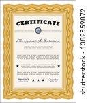 orange certificate. detailed.... | Shutterstock .eps vector #1382559872
