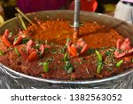 yummy indian street foods for... | Shutterstock . vector #1382563052