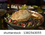 yummy indian street foods for... | Shutterstock . vector #1382563055