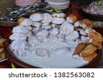 yummy indian street foods for... | Shutterstock . vector #1382563082