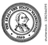 the seal of the state of... | Shutterstock .eps vector #1382566595