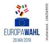europawahl 26 mai 2019  ... | Shutterstock .eps vector #1382569055