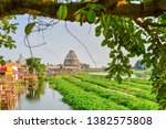 giant fish trap viewpoint and... | Shutterstock . vector #1382575808