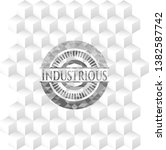 industrious grey badge with... | Shutterstock .eps vector #1382587742