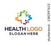 health colour logo vector... | Shutterstock .eps vector #1382597615