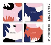 a set of four square design... | Shutterstock .eps vector #1382657552