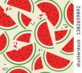 fresh fruits  hand drawn...   Shutterstock .eps vector #1382659892