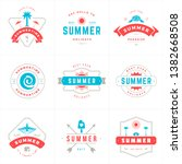 summer holidays labels and... | Shutterstock .eps vector #1382668508
