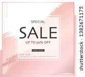modern square banner design for ... | Shutterstock .eps vector #1382671175