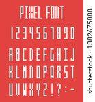 pixel alphabet letters and... | Shutterstock .eps vector #1382675888