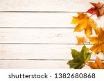 Colorful Autumn Dry Leaves On...