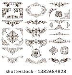 ornamental design lace borders... | Shutterstock .eps vector #1382684828