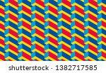 isometric seamless pattern ...   Shutterstock .eps vector #1382717585