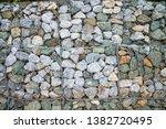 gabion protection wall  rock... | Shutterstock . vector #1382720495