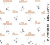 cloud pattern. cute sky...   Shutterstock .eps vector #1382725448
