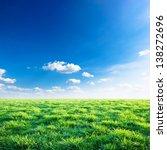 Green Field Under Blue Sky Wit...