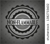 non flammable dark badge.... | Shutterstock .eps vector #1382733602