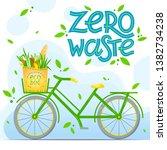 zero waste concept.vector... | Shutterstock .eps vector #1382734238
