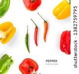 creative layout made of green ... | Shutterstock . vector #1382759795