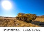 tank in sand desert scene.... | Shutterstock . vector #1382762432