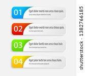 gradient infographics banners.... | Shutterstock .eps vector #1382766185