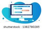 computer screen with open... | Shutterstock .eps vector #1382780285