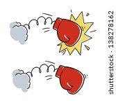 cartoon boxing glove punch....   Shutterstock .eps vector #138278162