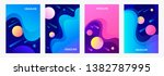 set of abstract templates for... | Shutterstock .eps vector #1382787995