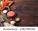fresh raw minced homemade... | Shutterstock . vector #1382789228