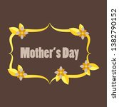 happy mother's day calligraphy... | Shutterstock .eps vector #1382790152