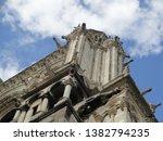 exterior of notre dame de paris ... | Shutterstock . vector #1382794235