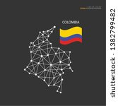 outline map of  colombia with... | Shutterstock .eps vector #1382799482