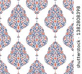 blue and orange floral seamless ... | Shutterstock .eps vector #1382808398