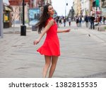 portrait of a young beautiful... | Shutterstock . vector #1382815535