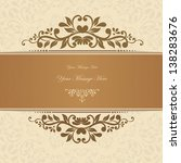 retro floral invitation card.... | Shutterstock .eps vector #138283676