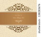 retro floral invitation card.... | Shutterstock .eps vector #138283676