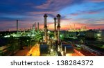 oil refinery at twilight | Shutterstock . vector #138284372
