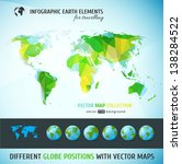 set of vector globe icons and... | Shutterstock .eps vector #138284522
