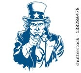 vector illustration of uncle sam | Shutterstock .eps vector #138286478
