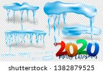 2020 winter decorations set of... | Shutterstock .eps vector #1382879525