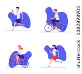 summer outdoor sport activities.... | Shutterstock .eps vector #1382898905