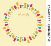 vector round frame of the... | Shutterstock .eps vector #138289976