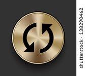 vector metal swap icon   button