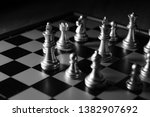 close up shot chess on the... | Shutterstock . vector #1382907692