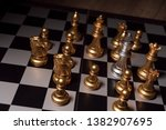 close up shot chess on the... | Shutterstock . vector #1382907695