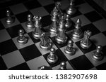 close up shot chess on the... | Shutterstock . vector #1382907698