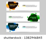 banner design with colored... | Shutterstock .eps vector #1382946845
