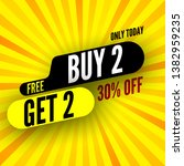 only today buy 2  free get 2 ... | Shutterstock .eps vector #1382959235