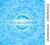 gold membership sky blue emblem.... | Shutterstock .eps vector #1382963312