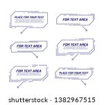 digital callouts titles. set of ... | Shutterstock .eps vector #1382967515